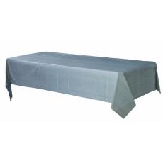 Rectangular Silver Plastic Table Cover 1.37m x 2.74m