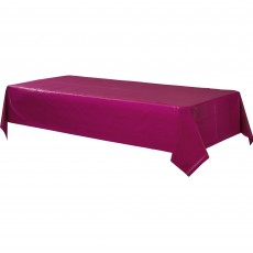 Berry Red Plastic Table Cover 1.37m x 2.74m