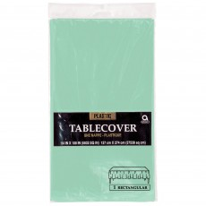 Green Cool Mint  Plastic Table Cover