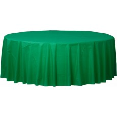 Green Festive  Plastic Table Cover