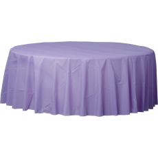 Lavender Party Supplies - Plastic Table Cover Lavender Round