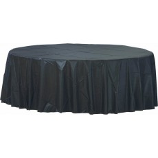 Black Jet  Plastic Table Cover