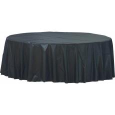 Round Jet Black Plastic Table Cover 2.1m