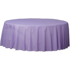 Lavender Party Supplies - Plastic Table Cover Hydrangea