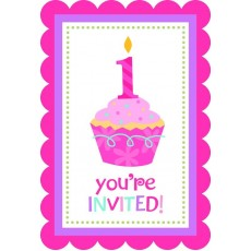 Sweet Cupcake 1st Birthday Girl Postcard Bargain Corner