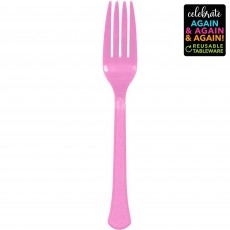 Pink Party Supplies - Forks Premium Extra Heavy Weight New Pink