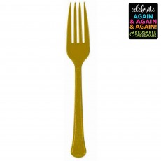 Gold Party Supplies - Forks Premium Extra Heavy Weight