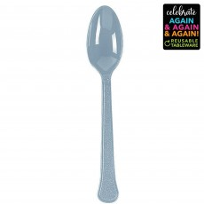 Silver Party Supplies - Spoons Premium Extra Heavy Weight Silver