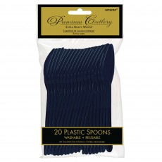 Navy Blue Heavy Weight Spoons Pack of 20
