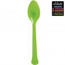 Green Party Supplies - Spoons Premium Extra Heavy Weight