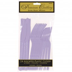 Lavender Party Supplies - Cutlery Sets Heavy Weight