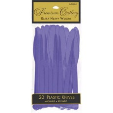 New Purple Heavy Weight Knives Pack of 20