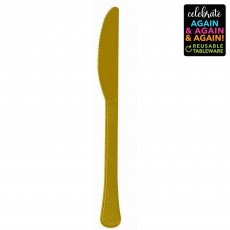 Gold Party Supplies - Knives Premium Extra Heavy Weight