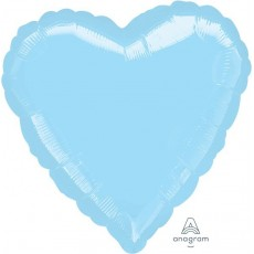 Blue Metallic Pearl Pastel Standard HX 2 Shaped Balloon