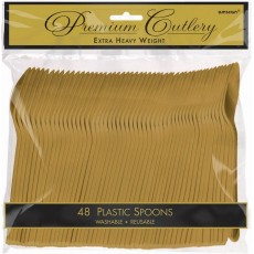 Gold Premium Heavy Weight High Count Spoons Pack of 48
