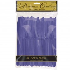 New Purple Premium Heavy Weight Plastic Knives Pack of 48