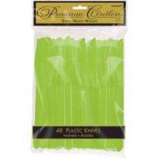 Green Kiwi Premium Heavy Weight Plastic Knives
