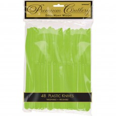 Kiwi Green Premium Heavy Weight Plastic Knives Pack of 48