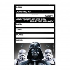 Star Wars Party Supplies - Party Invitations