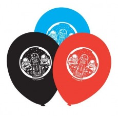 Star Wars Black, Blue & Red Classic Latex Balloons