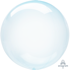 Blue Crystal Clearz Shaped Balloon
