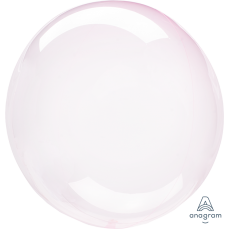 Pink Light Crystal Clearz Shaped Balloon