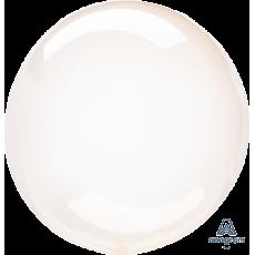 Orange Crystal Clearz Shaped Balloon