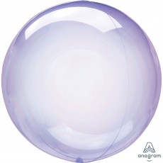 Purple Crystal Clearz Shaped Balloon