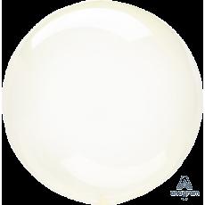 Yellow Crystal Clearz Shaped Balloon