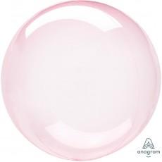 Pink Dark Petite Crystal Clearz Shaped Balloon