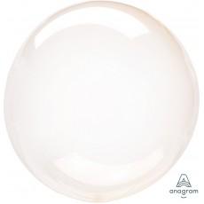 Round Orange Petite Crystal Clearz Shaped Balloon 30cm