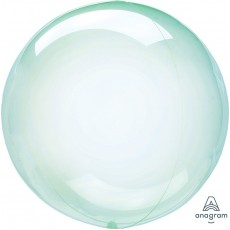 Green Petite Crystal Clearz Shaped Balloon