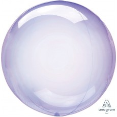 Purple Petite Crystal Clearz Shaped Balloon