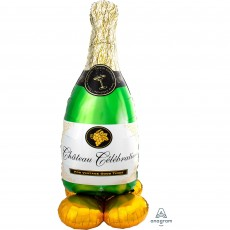 New Year Party Decorations - Shaped Balloon AirLoonz Bubbly Wine Bottle
