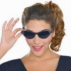 Feeling Groovy & 60's Cat Eyes Glasses Head Accessorie
