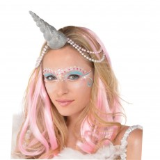Magical Unicorn Party Supplies - Glittered Silver Unicorn Horn