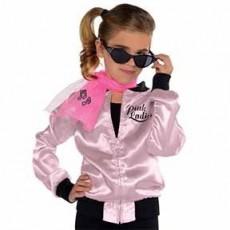 Rock n Roll Pink Ladies Jacket Child Costume