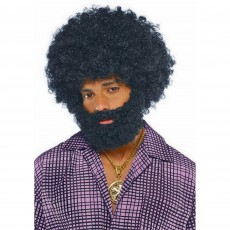 Feeling Groovy & 60's Party Supplies - Afro Beard & Moustache