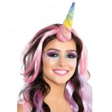 Magical Unicorn Glittered Rainbow Unicorn Horn Head Accessorie