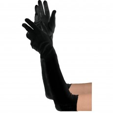 Black Long Gloves Costume Accessorie