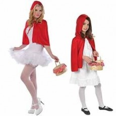 Fairytale Party Supplies - Riding Hood Cape Red
