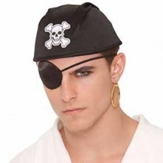 Pirate Eyepatch & Earring Set Costume Accessorie