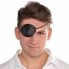 Pirate Black Silken Eye Patch Costume Accessorie