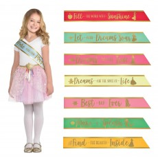 Disney Princess Party Supplies - Once Upon A Time Sashes