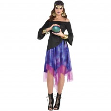 Halloween Fortune Teller High-Low Dress Adult Costume
