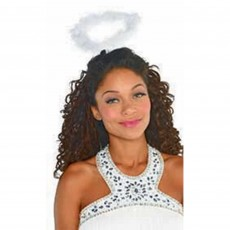 Fairytale White Marabou Feather Halo Costume Accessorie
