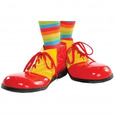 Big Top Red & Yellow Clown Red & Yellow Shoes Costume Accessories