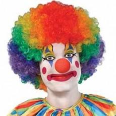 Big Top Rainbow Jumbo Clown Wig Costume Accessorie