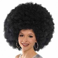 Feeling Groovy & 60's Black Worlds Biggest Afro Wig Head Accessorie