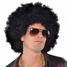 Feeling Groovy & 60's Black Oversised Afro Wig Head Accessorie
